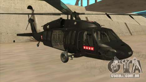 Sikorsky UH-60L Black Hawk Mexican Air Force para GTA San Andreas esquerda vista