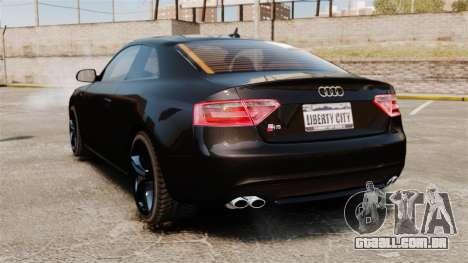 Audi S5 para GTA 4 traseira esquerda vista