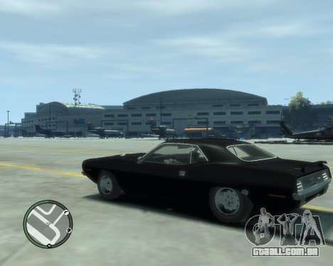 Plymouth Barracuda 1970 para GTA 4 vista superior