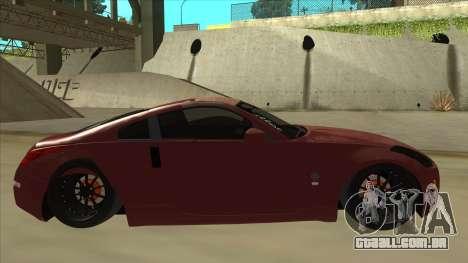 Nissan 350Z JDM para GTA San Andreas traseira esquerda vista