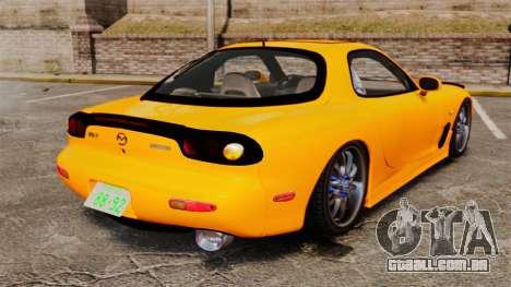 Mazda RX-7 FD3S para GTA 4 traseira esquerda vista