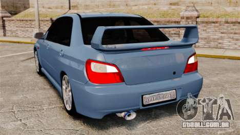 Subaru Impreza WRX 2001 para GTA 4 traseira esquerda vista