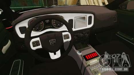 Dodge Charger Pursuit 2012 [ELS] para GTA 4 vista de volta