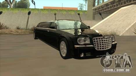 Chrysler 300C Limo 2006 para GTA San Andreas vista traseira