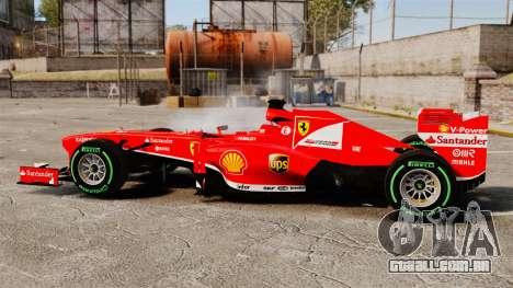 Ferrari F138 2013 v3 para GTA 4 esquerda vista