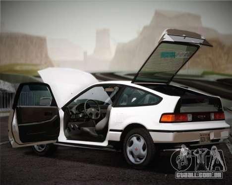 Honda CR-X 1991 para vista lateral GTA San Andreas