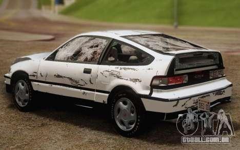 Honda CR-X 1991 para GTA San Andreas vista inferior