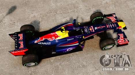 Carro, Red Bull RB9 v3 para GTA 4 vista direita