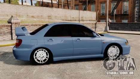 Subaru Impreza WRX 2001 para GTA 4 esquerda vista