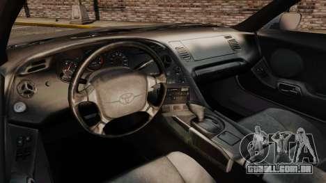 Toyota Supra MKIV 1995 v3.5 para GTA 4 vista de volta