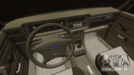 Vaz-2107 para GTA 4 vista superior