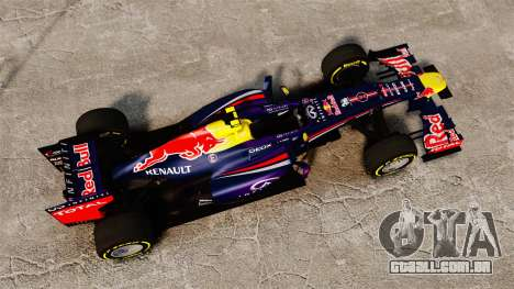 Carro, Red Bull RB9 v5 para GTA 4 vista direita