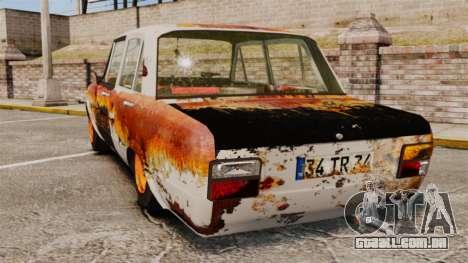 Tofas Serce Rusty para GTA 4 traseira esquerda vista