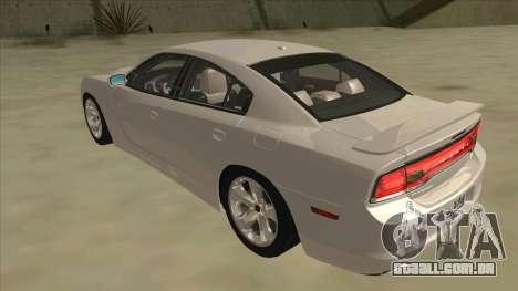 Dodge Charger RT 2011 V2.0 para GTA San Andreas vista traseira