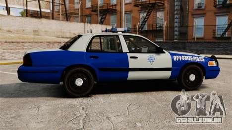 Ford Crown Victoria Police Massachusetts ELS para GTA 4 esquerda vista