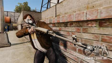 Dragunov sniper rifle v1 para GTA 4 terceira tela