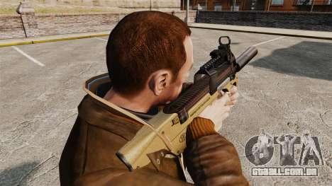 V4 de pistola-metralhadora belga FN P90 para GTA 4 segundo screenshot