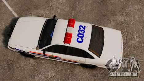 A real polícia montada do Canadá para GTA 4 vista direita