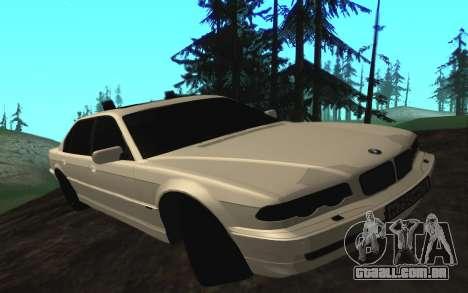 BMW 750iL E38 com luzes piscando para GTA San Andreas esquerda vista