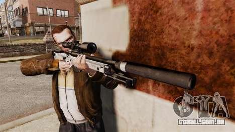 Rifle de sniper L115A1 AW com um v6 de silenciad para GTA 4