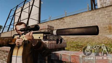Rifle de sniper L115A1 AW com um silenciador v2 para GTA 4 terceira tela