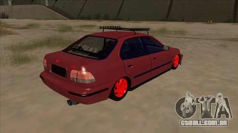 Honda Civic V2 BKModifiye para GTA San Andreas vista direita