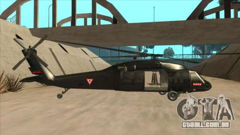 Sikorsky UH-60L Black Hawk Mexican Air Force para GTA San Andreas traseira esquerda vista