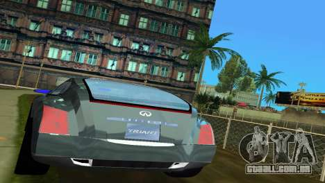 Infiniti Triant para GTA Vice City vista traseira