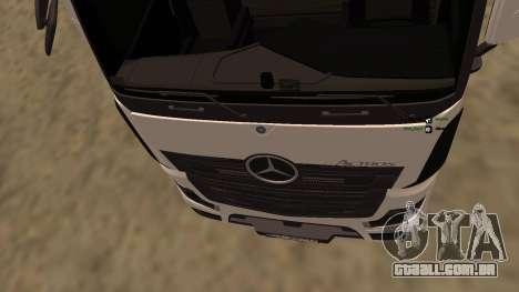 Mercedes-Benz Actros para GTA San Andreas vista traseira