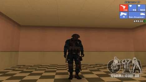 Pele da SWAT para GTA San Andreas sexta tela