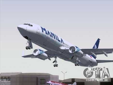 Boeing 737-800 Spirit of Manila Airlines para GTA San Andreas vista superior