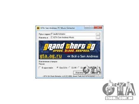 GTA San Andreas Radio Extractor v1.0 para GTA San Andreas