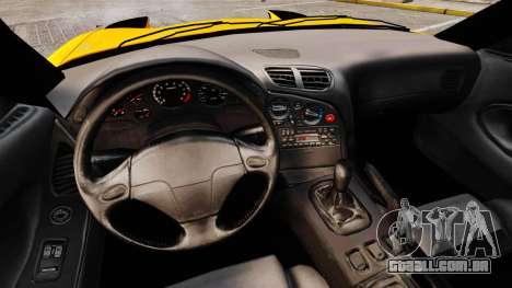 Mazda RX-7 FD3S para GTA 4 vista interior