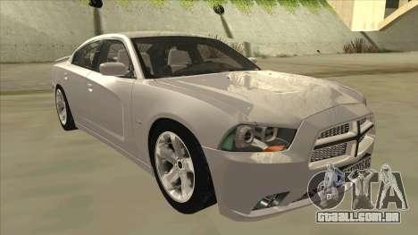 Dodge Charger RT 2011 V2.0 para GTA San Andreas esquerda vista