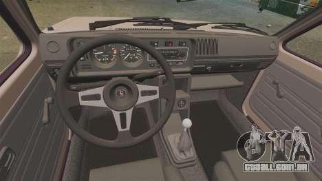 Volkswagen Golf MK1 GTI para GTA 4 vista de volta