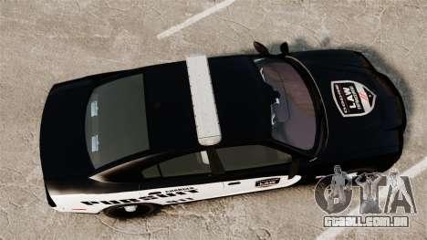 Dodge Charger Pursuit 2012 [ELS] para GTA 4 vista direita