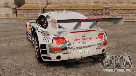 BMW Z4 M Coupe GT Black Rock Shooter para GTA 4 vista direita