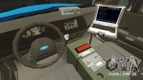 Ford Crown Victoria Police Massachusetts ELS para GTA 4 vista de volta