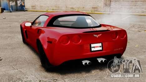 Chevrolet Corvette Z06 para GTA 4 traseira esquerda vista