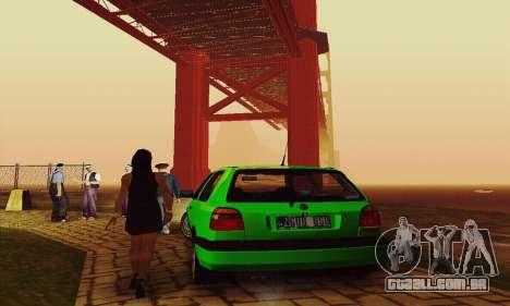 Volkswagen Golf Mk3 GTi 1997 para GTA San Andreas vista traseira
