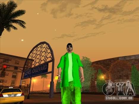 Nova pele Groove st. para GTA San Andreas quinto tela
