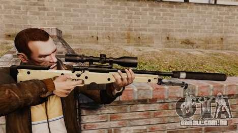 Rifle de sniper L115A1 AW com um silenciador v2 para GTA 4