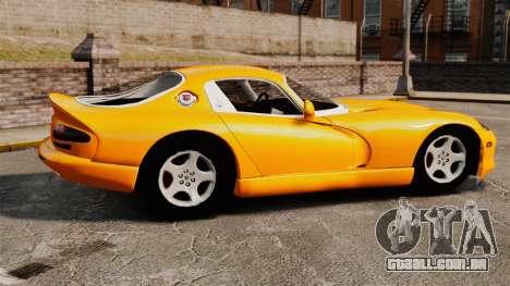 Dodge Viper 1996 para GTA 4 esquerda vista