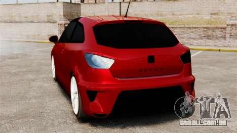 SEAT Ibiza para GTA 4 traseira esquerda vista