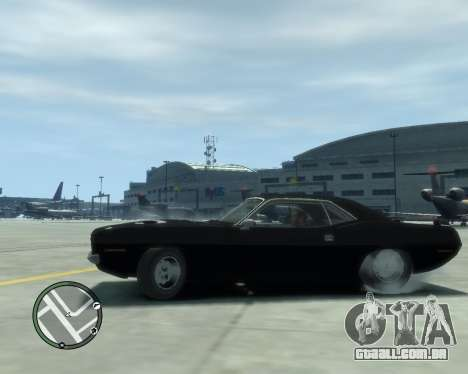 Plymouth Barracuda 1970 para GTA 4 traseira esquerda vista