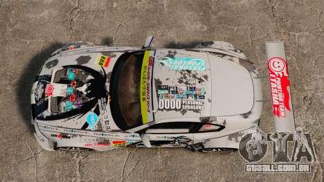 BMW Z4 M Coupe GT Black Rock Shooter para GTA 4 vista de volta