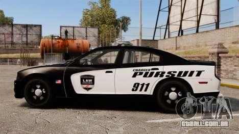 Dodge Charger Pursuit 2012 [ELS] para GTA 4 esquerda vista