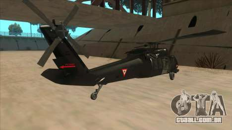 Sikorsky UH-60L Black Hawk Mexican Air Force para GTA San Andreas vista direita