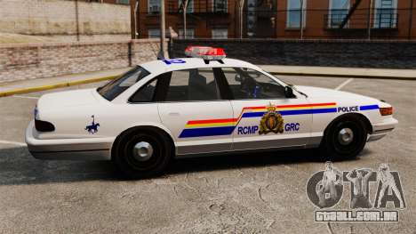 A real polícia montada do Canadá para GTA 4 esquerda vista