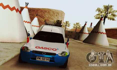 Chevrolet Combo Gasco para GTA San Andreas traseira esquerda vista